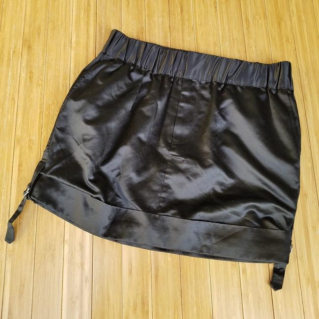 Club Monaco #miranda #silk #satin Mini Skirt Black Image 4