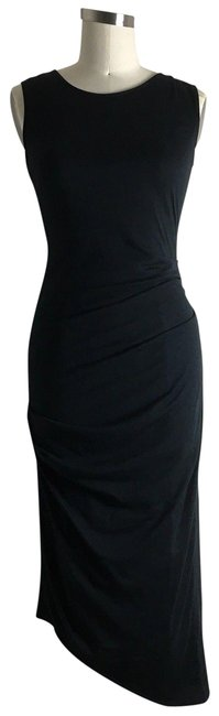 Preload https://img-static.tradesy.com/item/24571717/michael-stars-black-ruched-tee-mid-length-night-out-dress-size-4-s-0-1-650-650.jpg