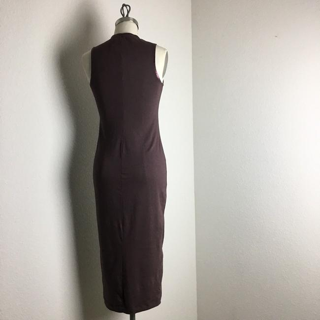 michael stars Ruched Ruched Jersey Ruched Midi Dress Image 8