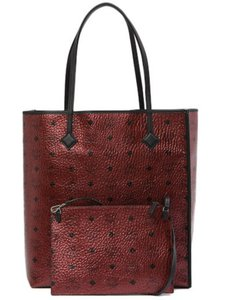 Added To Ping Bag Mcm Tote In Red
