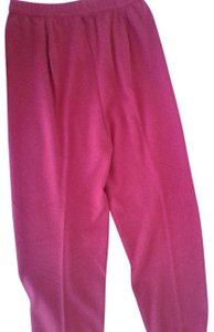 mariele waithe Like New Cashmere Soft Warm And Cozy Made In China Trouser Pants red