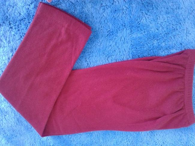 mariele waithe Like New Cashmere Soft Warm And Cozy Made In China Trouser Pants red Image 2