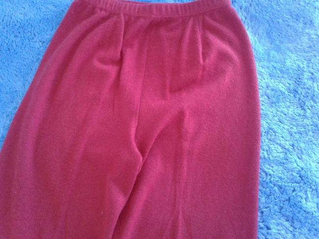 mariele waithe Like New Cashmere Soft Warm And Cozy Made In China Trouser Pants red Image 4
