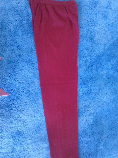 mariele waithe Like New Cashmere Soft Warm And Cozy Made In China Trouser Pants red Image 6
