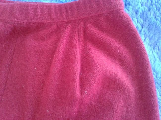 mariele waithe Like New Cashmere Soft Warm And Cozy Made In China Trouser Pants red Image 7