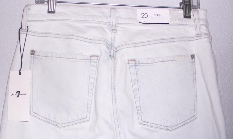 cbac64b2f877 7 For All Mankind Straight Leg Jeans-Light Wash Image 9. 12345678910