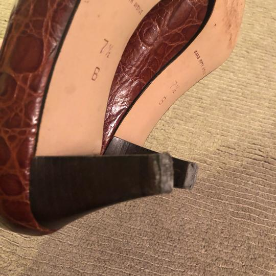 Saks Fifth Avenue brown Pumps Image 7