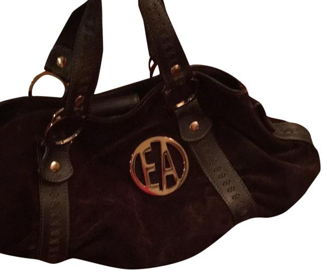 Emporio Armani Great Quality And Dark Brown Suede Leather Baguette Emporio Armani Great Quality And Dark Brown Suede Leather Baguette Image 1