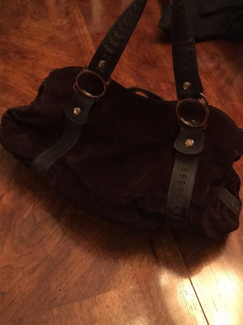 Emporio Armani Great Quality And Dark Brown Suede Leather Baguette Emporio Armani Great Quality And Dark Brown Suede Leather Baguette Image 4