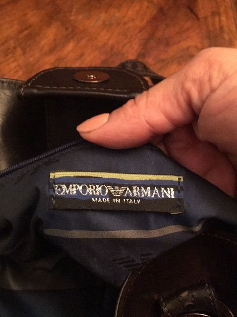 Emporio Armani Great Quality And Dark Brown Suede Leather Baguette Emporio Armani Great Quality And Dark Brown Suede Leather Baguette Image 6