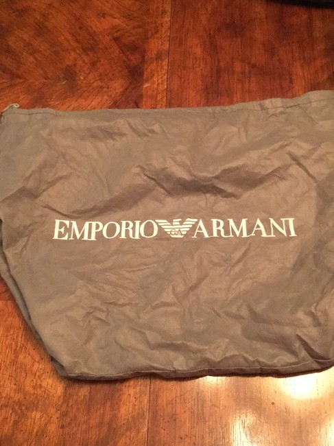 Emporio Armani Great Quality And Dark Brown Suede Leather Baguette Emporio Armani Great Quality And Dark Brown Suede Leather Baguette Image 8