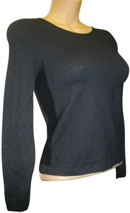 Emilio Cavallini Side Spandex Panels Pullover Long Sleeves Top Black