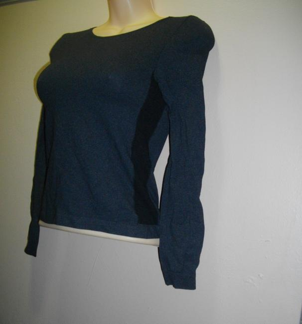 Emilio Cavallini Side Spandex Panels Pullover Long Sleeves Top Black Image 1