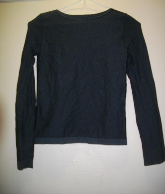 Emilio Cavallini Side Spandex Panels Pullover Long Sleeves Top Black Image 2