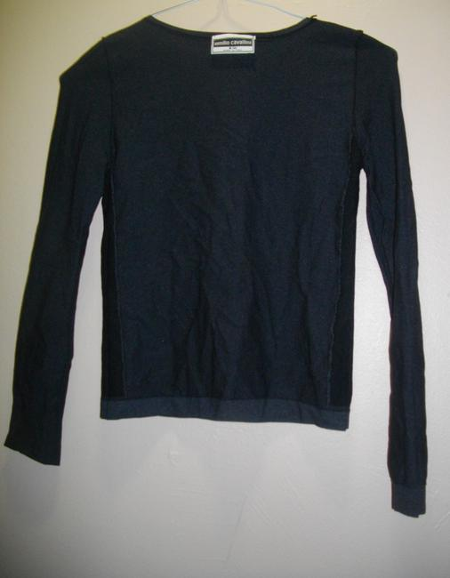 Emilio Cavallini Side Spandex Panels Pullover Long Sleeves Top Black Image 3