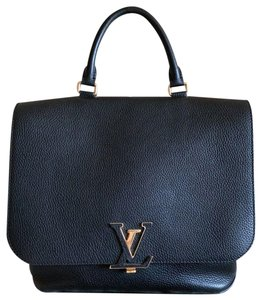 Louis Vuitton Volta Taurillon Calfskin Leather Satchel in Black