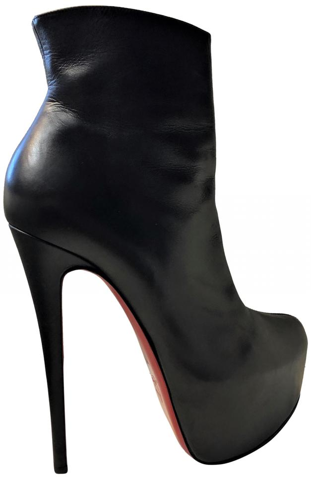 best sneakers 19b6b 50c8a Christian Louboutin Black Daffodile 38it Platform High Heel Lady Toe Red  Sole Daf Leather Ankle Boots/Booties Size EU 38 (Approx. US 8) Regular (M,  B)