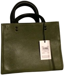 Coach 1941 Pebbled Rectangular Olive Convertable Satchel in Utility Green