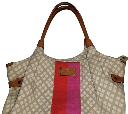 Preload https://img-static.tradesy.com/item/24572361/kate-spade-classic-tanbrown-canvasleather-satchel-0-5-540-540.jpg