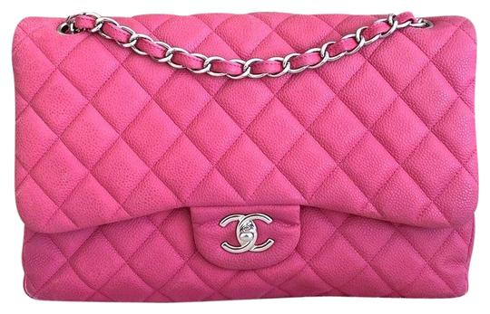 Chanel Classic Jumbo Double Flap Caviar Shoulder Bag Image 0
