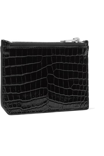 Saint Laurent Croc-effect patent-leather cardholder Image 2