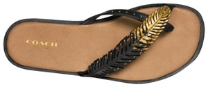Coach Black gold Sandals