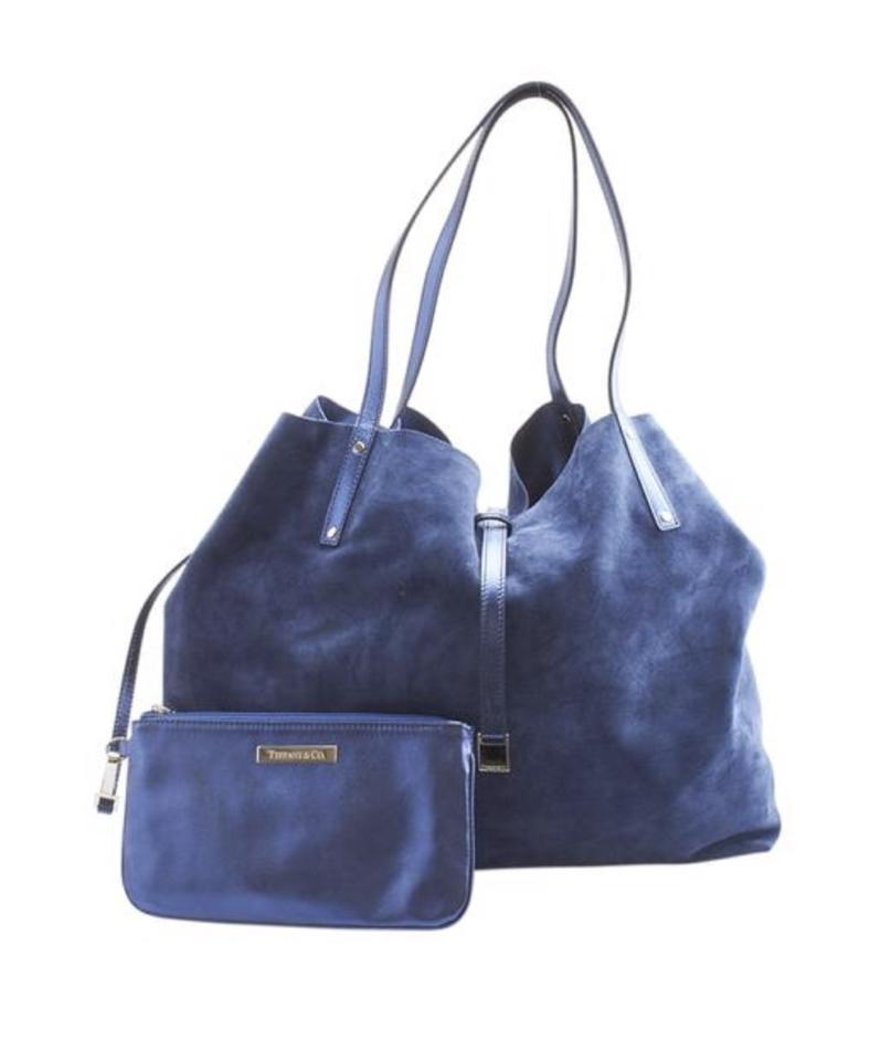 04416a7a42 Tiffany & Co. Reversible Blue Leather and Suede Tote - Tradesy