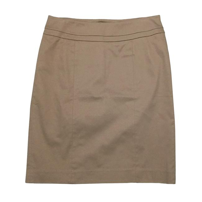 Item - Tan Brown Classic Cotton Sateen Pencil Skirt Size 6 (S, 28)