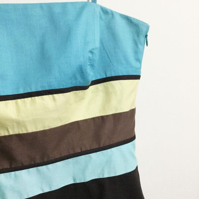 Ann Taylor LOFT short dress Brown & Turquoise Sundress Strapless Party Cotton on Tradesy Image 1