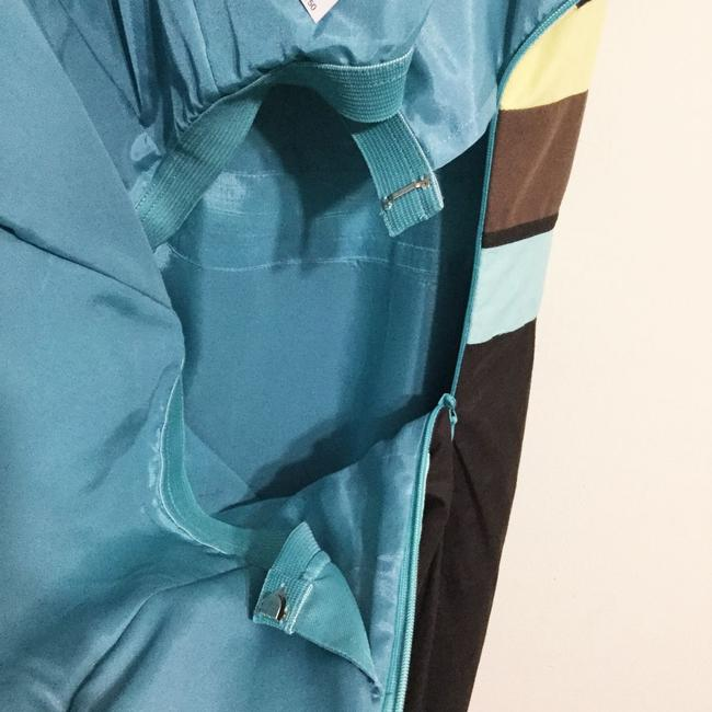 Ann Taylor LOFT short dress Brown & Turquoise Sundress Strapless Party Cotton on Tradesy Image 4