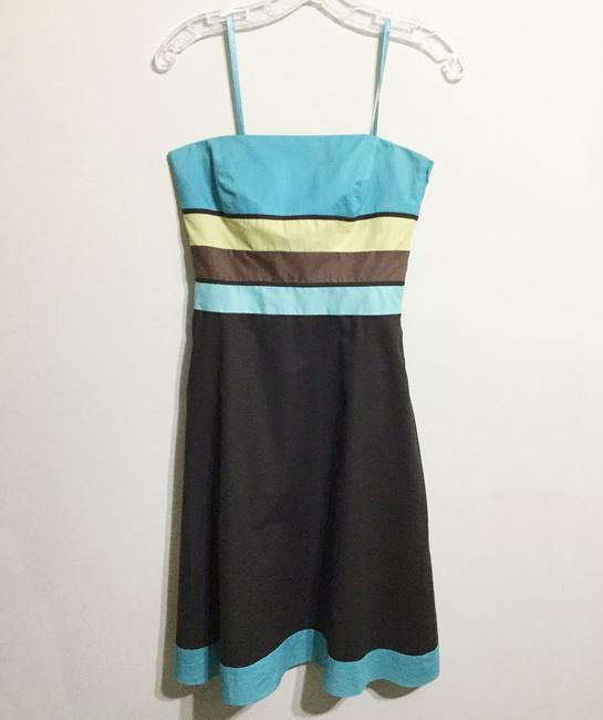Ann Taylor LOFT short dress Brown & Turquoise Sundress Strapless Party Cotton on Tradesy Image 8