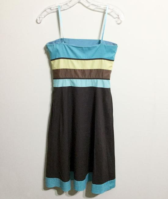 Ann Taylor LOFT short dress Brown & Turquoise Sundress Strapless Party Cotton on Tradesy Image 9