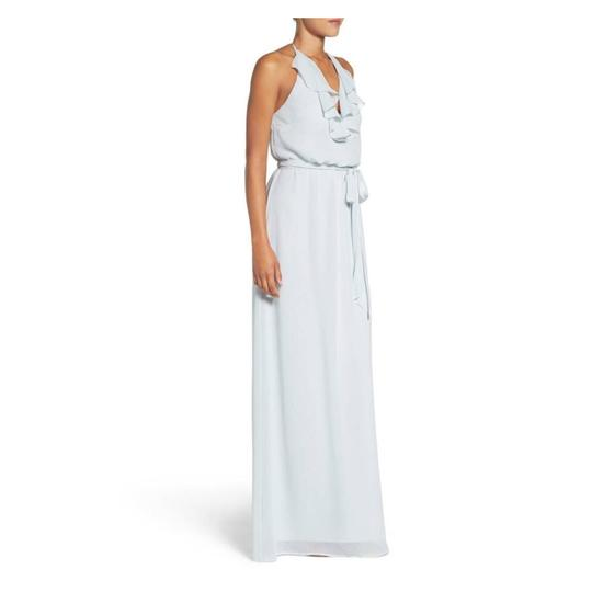 Amsale Cloud Dani Ruffle Halter Neck Chiffon Gown Feminine Bridesmaid/Mob Dress Size 8 (M) Image 1