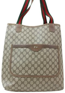 Gucci Sherry Web Ophidia Supreme Soho Tote in Brown