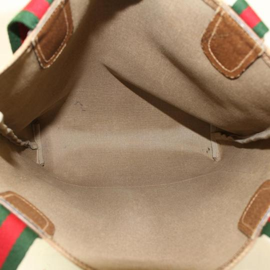 Gucci Sherry Web Ophidia Supreme Soho Tote in Brown Image 10