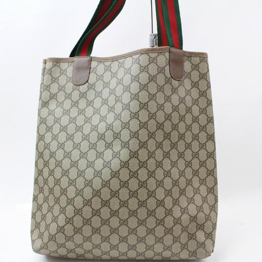 Gucci Sherry Web Ophidia Supreme Soho Tote in Brown Image 5