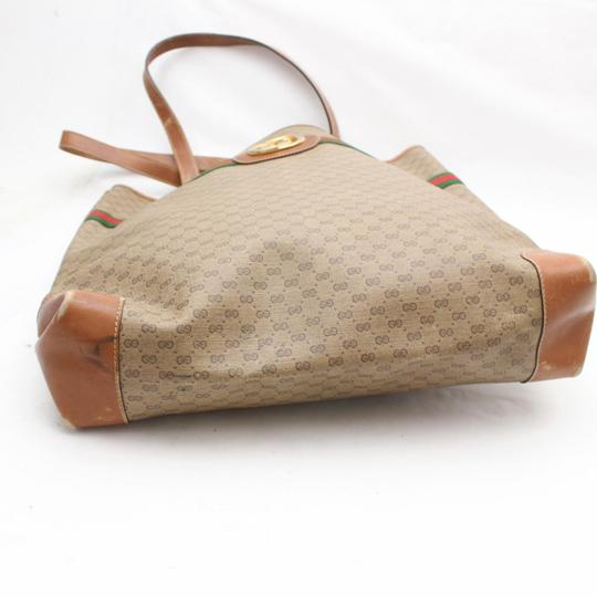 Gucci Sherry Interlocking Web Ophidia Shopping Tote in Brown Image 6