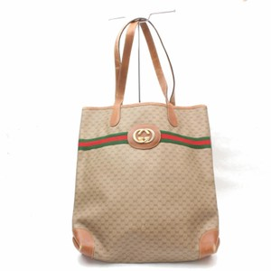 Gucci Sherry Interlocking Web Ophidia Shopping Tote in Brown