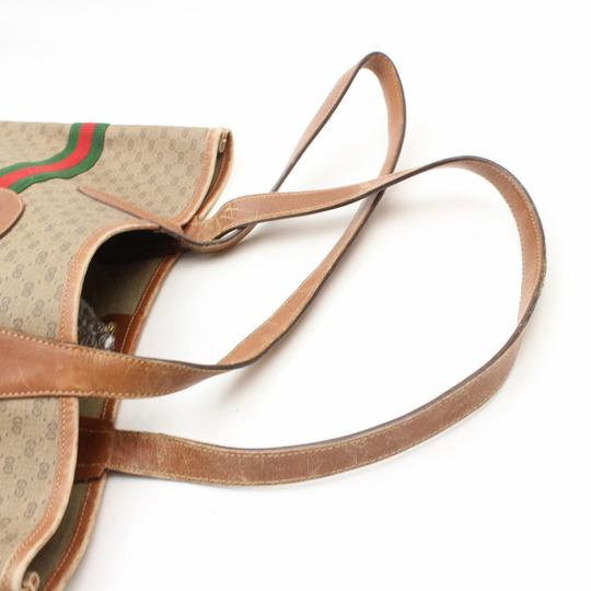 Gucci Sherry Interlocking Web Ophidia Shopping Tote in Brown Image 4