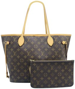 Louis Vuitton Canvas Monogram Lv Neverfull Shoulder Bag