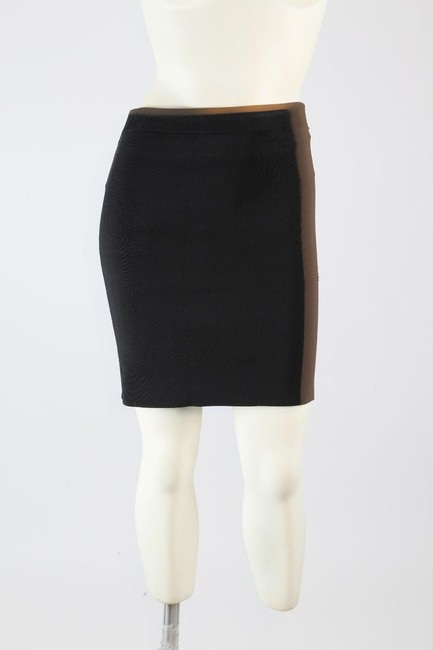 T by Alexander Wang Formal Stretchy Mini Skirt Black Image 10