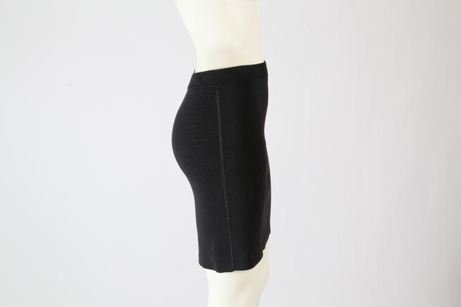 T by Alexander Wang Formal Stretchy Mini Skirt Black Image 5