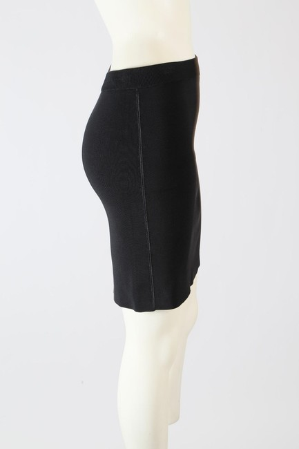 T by Alexander Wang Formal Stretchy Mini Skirt Black Image 6