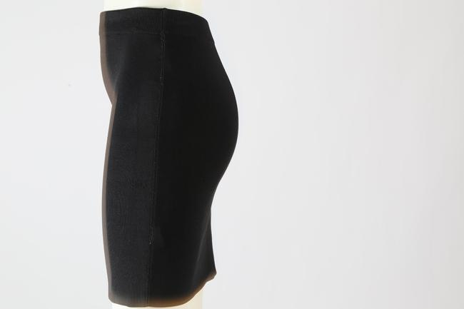 T by Alexander Wang Formal Stretchy Mini Skirt Black Image 7