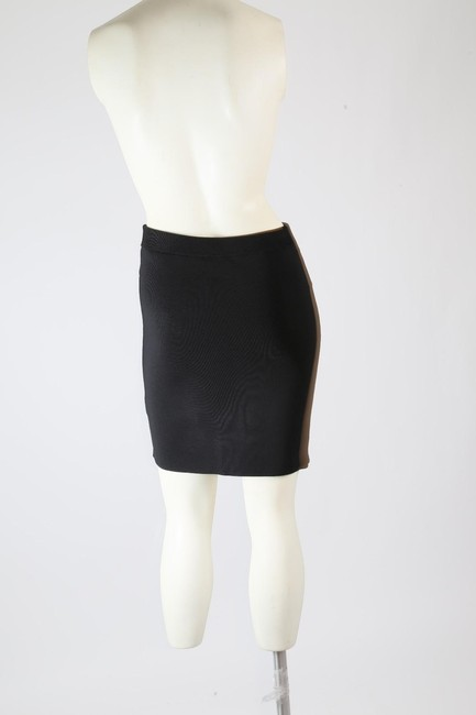 T by Alexander Wang Formal Stretchy Mini Skirt Black Image 8