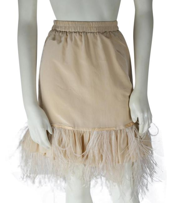 Preload https://img-static.tradesy.com/item/24572914/nude-feather-skirt-size-2-xs-26-0-1-650-650.jpg