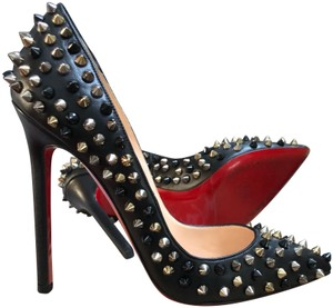 Christian Louboutin Pigalle Spikes So Kate Follies Studded Black Pumps