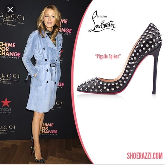 Christian Louboutin Pigalle Spikes So Kate Follies Studded Black Pumps Image 1