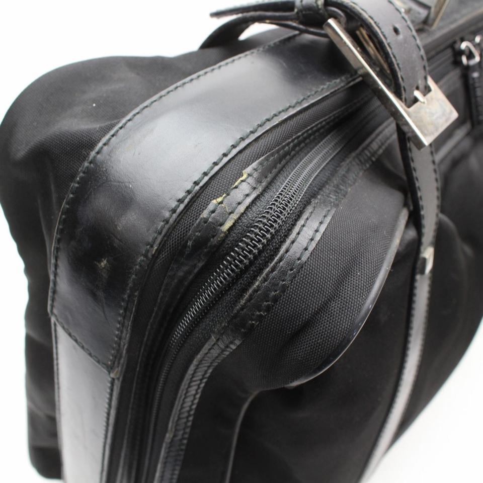 ad722175abc253 Gucci Satellite Keepall Boston Duffle Suitcase Black Travel Bag Image 11.  123456789101112