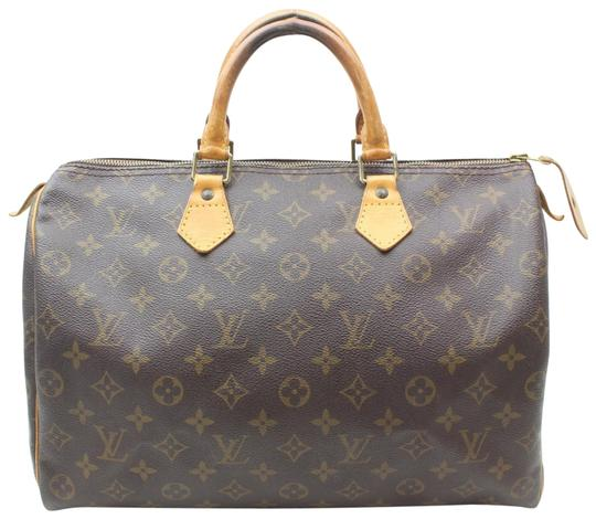 Preload https://img-static.tradesy.com/item/24572997/louis-vuitton-speedy-monogram-35-mm-869379-brown-coated-canvas-satchel-0-1-540-540.jpg